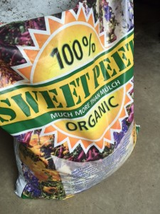 Sweet Peet is a 100 percent organic mulch that's made up of virgin wood products, manure and plant fibers.